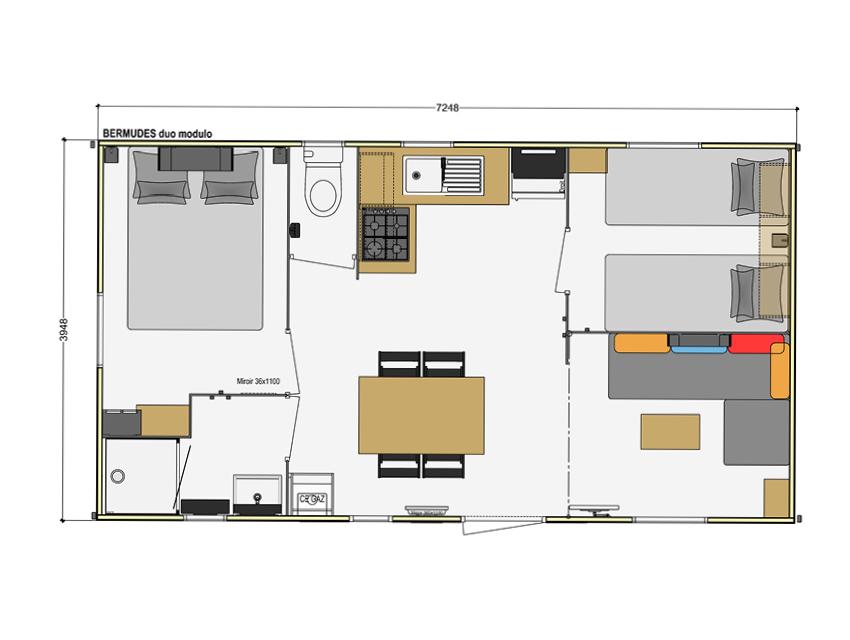 Plan Mobile home Bermude