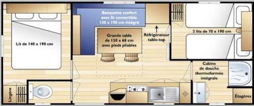 Mobile home 2 ch plan